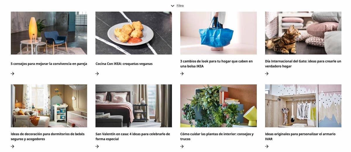 ikea marketing de contenidos ejemplos